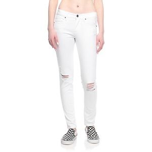 Denim - white destructed skinny jeans
